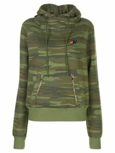 Aviator Nation camouflage print hoodie - Green