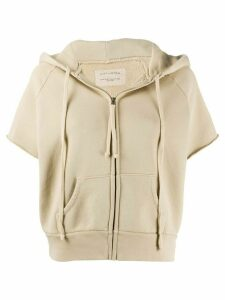 Nili Lotan short sleeve zipped front hoodie - Green