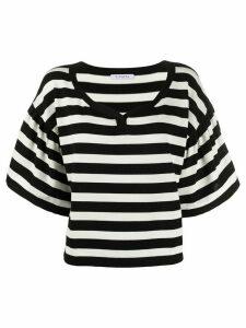 Vivetta oversized striped T-shirt - Black