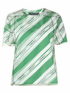 Y/Project striped logo-print T-shirt - Green