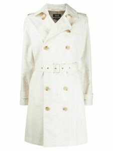 A.P.C. double breasted trench coat - NEUTRALS