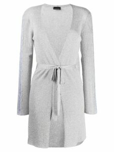 Ermanno Scervino waist-tied fitted cardigan - SILVER