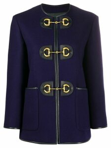 Gucci Horsebit military jacket - Blue