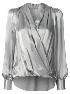 Elie Tahari Cassia wrap blouse - Grey