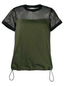 Moncler mesh panel T-shirt - Green