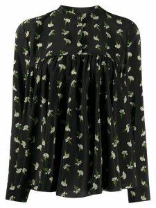 Giambattista Valli floral-print silk blouse - Black