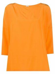 M Missoni 3/4 sleeves silk top - ORANGE