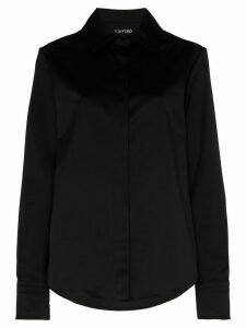 Tom Ford long-sleeve button-up shirt - Black