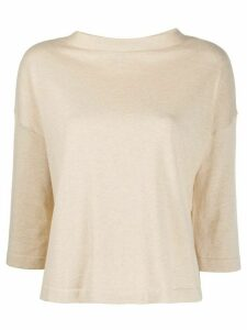 Ma'ry'ya three-quarter sleeve jumper - NEUTRALS