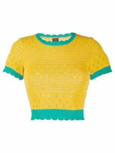 Pinko knitted crew neck top - Yellow