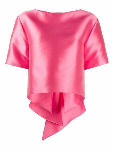 Alberta Ferretti oversized bow detailed T-shirt - PINK