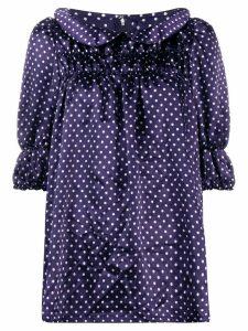 Comme Des Garçons Girl dotted short sleeved blouse - Blue