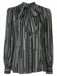 Elie Tahari Percy striped print shirt - Black