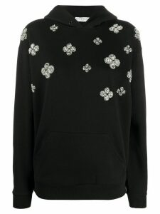 Givenchy flowers embroidered hoodie - Black