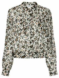 LIU JO long-sleeved floral-print shirt - NEUTRALS