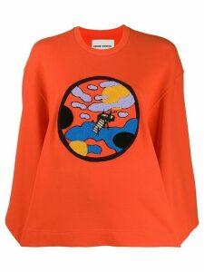 Henrik Vibskov textured logo sweatshirt