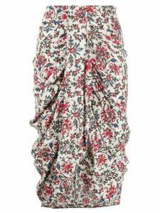 Isabel Marant floral-print draped skirt - Red