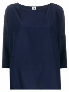 M Missoni boat-neck silk blouse - Blue