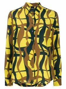Aspesi abstract print silk shirt - Yellow