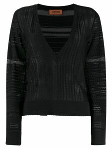 Missoni sheer panel jumper - Black