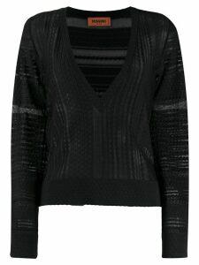 Missoni sheer panel jumper - Black