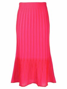 M Missoni ribbed knit midi skirt - PINK