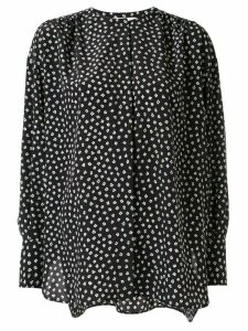Tomorrowland floral-print crepe de chine shirt - Black