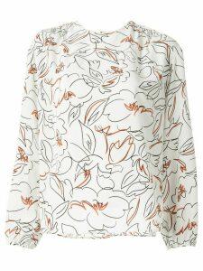 Tomorrowland scribble print blouse - White