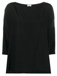 M Missoni 3/4 sleeves silk top - Black