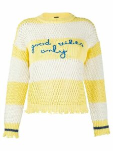 Pinko striped embroidered jumper - Yellow