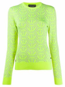 Philipp Plein monogram jumper - Yellow
