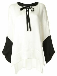 Roland Mouret Ciro loose-fit satin blouse - White