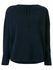 Tomorrowland loose-fit drawstring-neck jumper - Blue