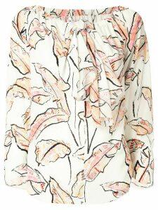 Roland Mouret Gila palm-print blouse - White
