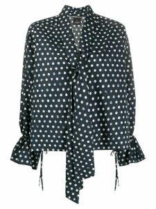 Pinko oversized polka dot print blouse - Blue