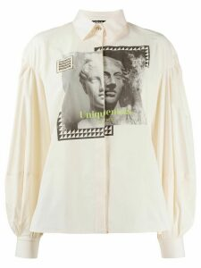 Pinko long puff sleeve shirt - White