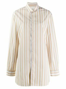 Jil Sander striped long-sleeve shirt - NEUTRALS