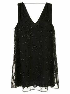 Brunello Cucinelli bead-embroidery silk blouse - Black