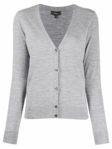 Theory slim-fit V-neck cardigan - Grey