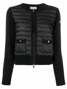 Moncler padded front short jacket - Black