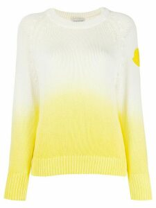 Moncler logo patch gradient jumper - White
