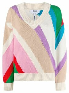 MSGM colour block jumper - NEUTRALS