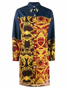 Versace Jeans Couture baroque print long shirt - Yellow