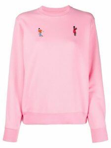 Kirin dancing embroidered sweatshirt - PINK