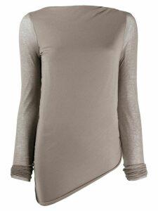 Rick Owens Lilies fine knit T-shirt - Grey