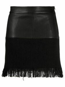 Pinko contrast panel skirt - Black