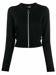 Love Moschino zipped knitted cardigan - Black