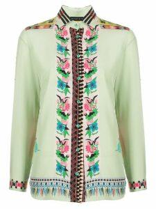 Etro mixed-pattern shirt - Green