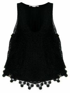 Stella McCartney crochet-knit top - Black