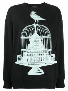 Undercover birdcage print sweatshirt - Black